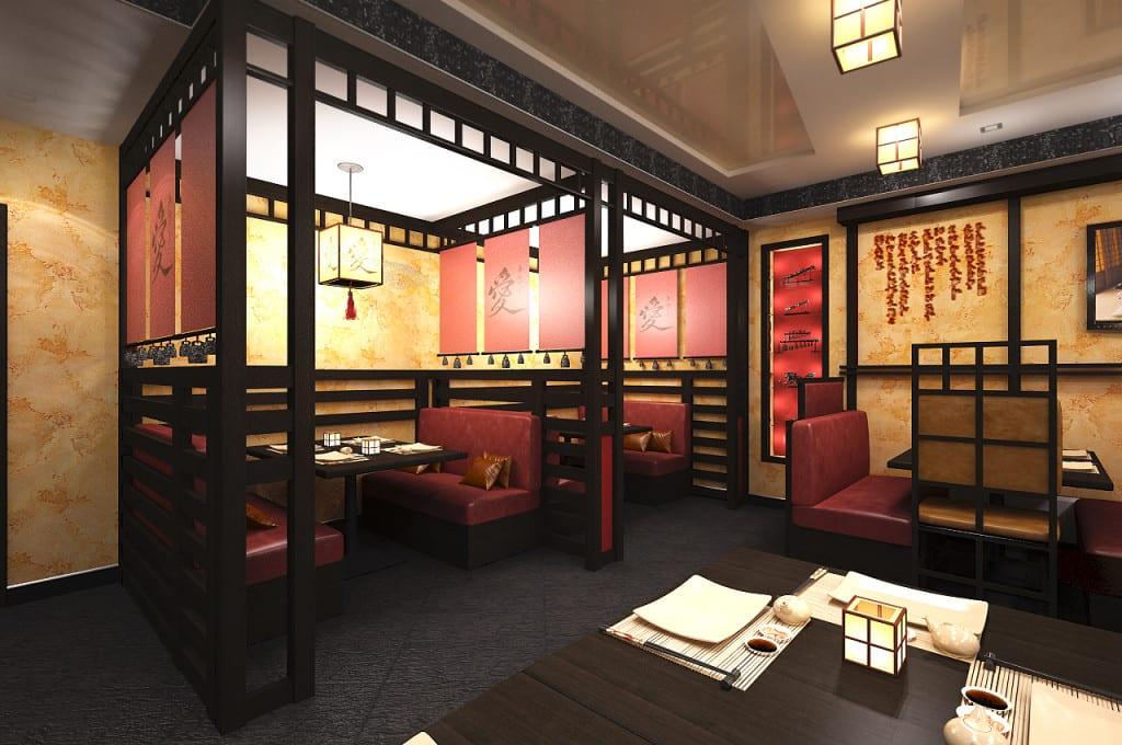 Японский ресторан дизайн