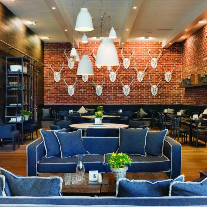 стиль модерн в интерьере кафе