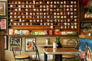 винтаж в интерьере кафе