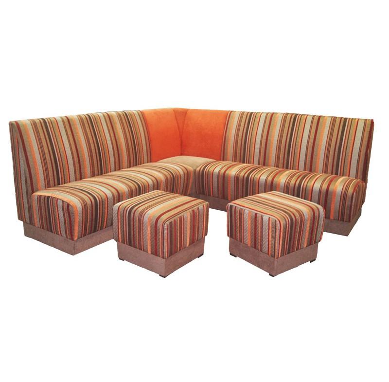 Угловой диван для кафе