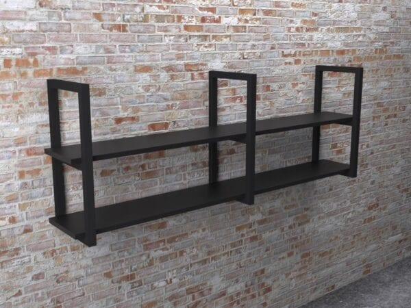 Полка в стиле Loft двойная