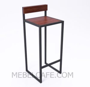 Высокий барный стул в стиле лофт