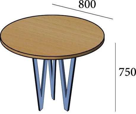 Круглый стол для кафе