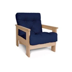 Деревянное кресло в стиле лофт
